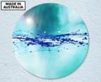 Aqua Splashes Of Colour 59cm Acrylic Glass Wall Art 1