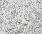 Johanna Basford 30.5x30.5cm Lost Ocean Colouring Canvas - Sea 5
