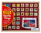 Melissa & Doug Favourite Things Wooden Stamp Set  1