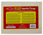 Melissa & Doug Favourite Things Wooden Stamp Set  4