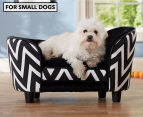 Enchanted Home Chaise Lounge Pet Bed For Small Dogs - Black 1