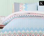Belmondo Home Lindsey King Bed Quilt Cover Set - Multi 1
