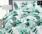 Belmondo Home Congo Queen Bed Quilt Cover Set - Green 1