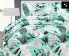 Belmondo Home Congo Single Bed Quilt Cover Set - Green 1