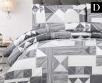 Belmondo Home Azaki Double Bed Quilt Cover Set - Charcoal 1