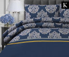 Belmondo Home Cumbria King Bed Quilt Cover Set - Blue 1