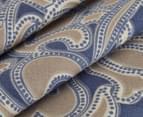 Belmondo Home Cumbria Single Bed Quilt Cover Set - Blue 4