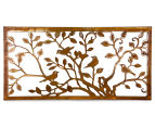 Laser-Cut Rust Tree Of Life Bird Wall Art - Bronze  1