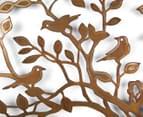 Laser-Cut Rust Tree Of Life Bird Wall Art - Bronze  3