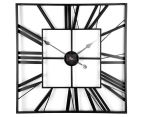Extra Large Classic 60cm Square Block Clock - Charcoal  6
