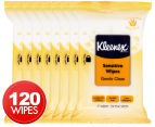 8 x Kleenex Sensitive Wet Wipes 15pk 1