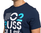 Russell Athletic Men's Campus Stencil Tee - Galaxy 6