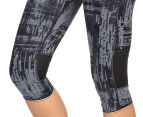 Champion Women's Marathon Knee Tight - Dada Grey/Glitch Plaid Black 5