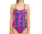 Arena Women's Arlequim Accelerate Back One-Piece - Deep Sea/Fresia Rose  1