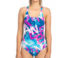 Arena Women's Satellites One-Piece - Deep Sea/Rose Violet 1