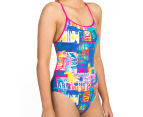 Arena Women's Passport Accelerate Back One-Piece - Rose Violet/Multi  2