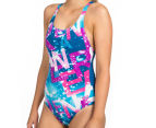 Arena Women's Satellites One-Piece - Deep Sea/Rose Violet 3