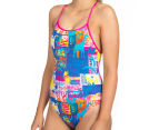 Arena Women's Passport Accelerate Back One-Piece - Rose Violet/Multi  3