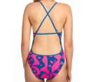 Arena Women's Arlequim Accelerate Back One-Piece - Deep Sea/Fresia Rose  4