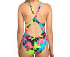 Arena Women's Routes Energy Back One-Piece - Black/Rose Violet 4