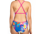 Arena Women's Passport Accelerate Back One-Piece - Rose Violet/Multi  4