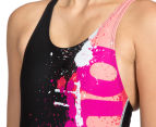 Arena Women's Writer One-Piece - Black/Rose Violet  5