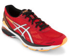 ASICS Men's GT-1000 5 Running Shoe - True Red/Silver/Hot Orange 2