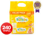 Baby Bumpkins Bulk Value Baby Wipes 3 x 80-Pack 1