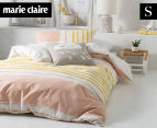 Marie Claire Mini By Linen House Lilou Single Bed Quilt Cover Set - Apricot  1
