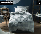 Marie Claire Mini By Linen House Pierre Single Bed Quilt Cover Set - Blue  1
