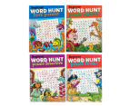 4-Pack Beginner Word Hunt Puzzle Books 1