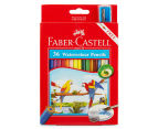 Faber-Castell 36 Watercolour Pencil & Sharpener Set 1