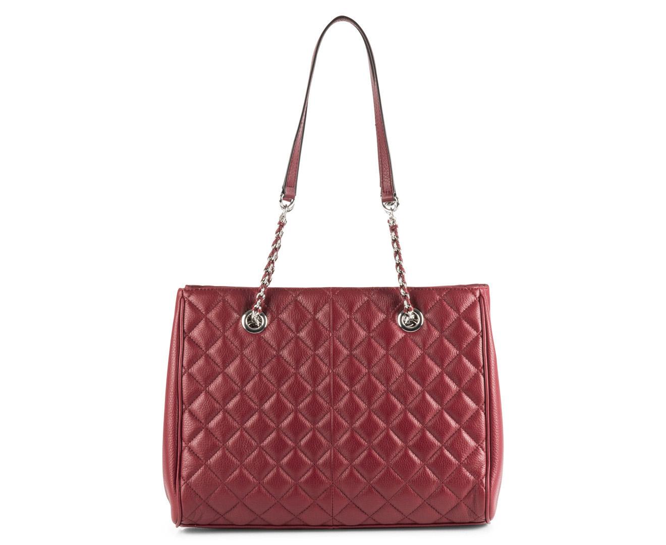 Calvin Klein Addie Pebble Leather Tote Red Ebay