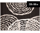 Ripples 230 x 160cm Rug - Black 1