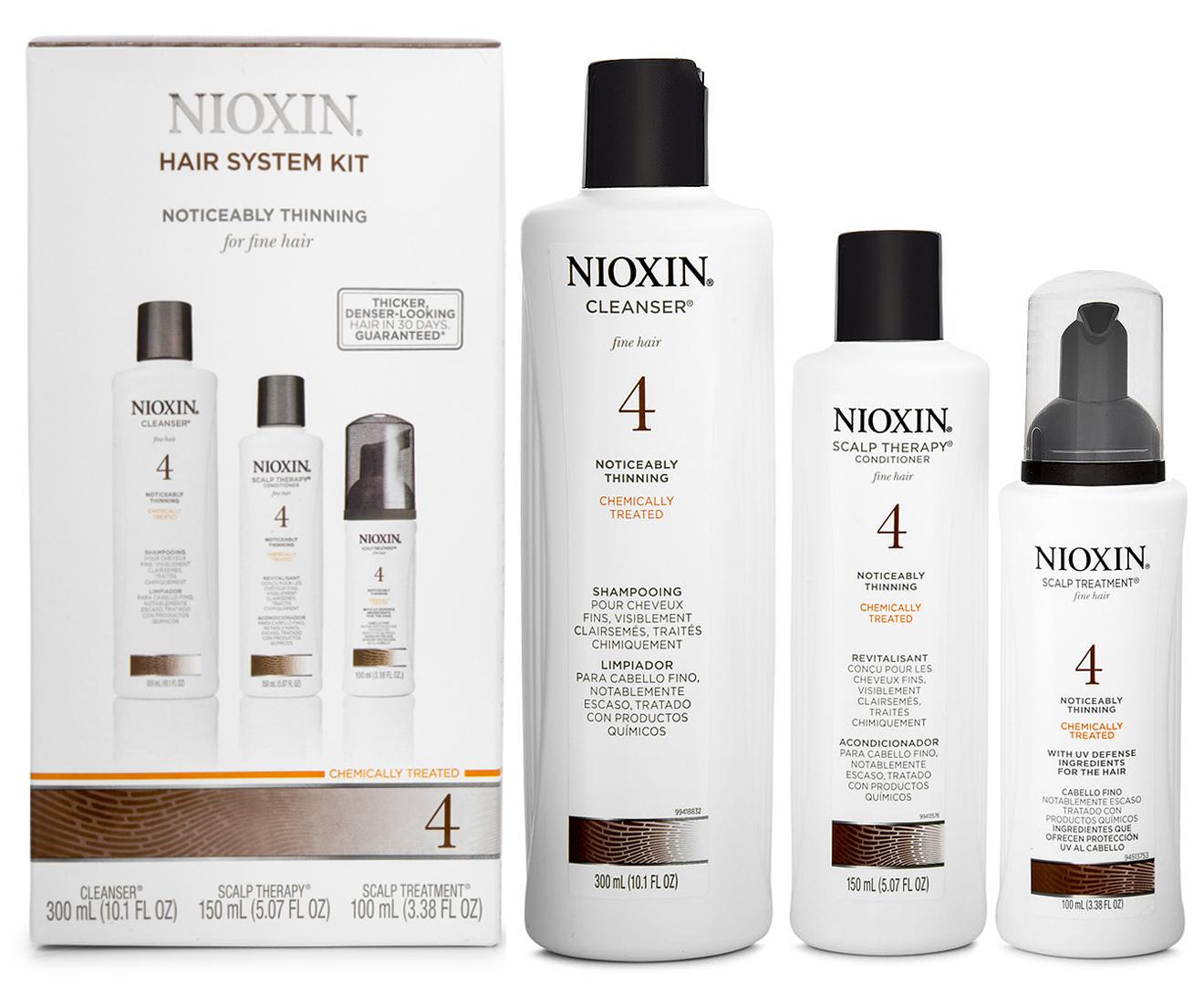 Nioxin System 4 Hair System Kit 3 Pack Ebay