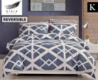 Gioia Casa Mason King Bed Mason Quilt Cover Set - Blue/Grey 1