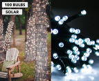 Solar Powered LED Party Lights 100-Pack - White 1