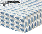 Petit Nest Cot Fitted Sheet - Blue 1