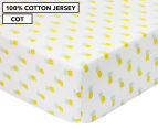 Little Cloud Pineapple Fitted Cot Sheet - White/Multi 1