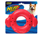 "NERF Dog 7"" Crab Squeaker Ring - Red 1"