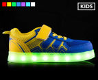 GLEAMKICKS Kids' Robo Gleamer Shoe - Blue/Yellow 1