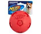 NERF Dog Large Soccer Squeaker - Red 1