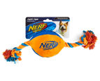 NERF Dog Medium Tuff Tug Plush Toy - Orange/Blue 1