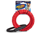 NERF Dog Medium Tuff Tug Tyre Toy - Red 1