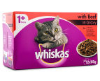 12 x Whiskas Favourites Multipack Beef 85g 2