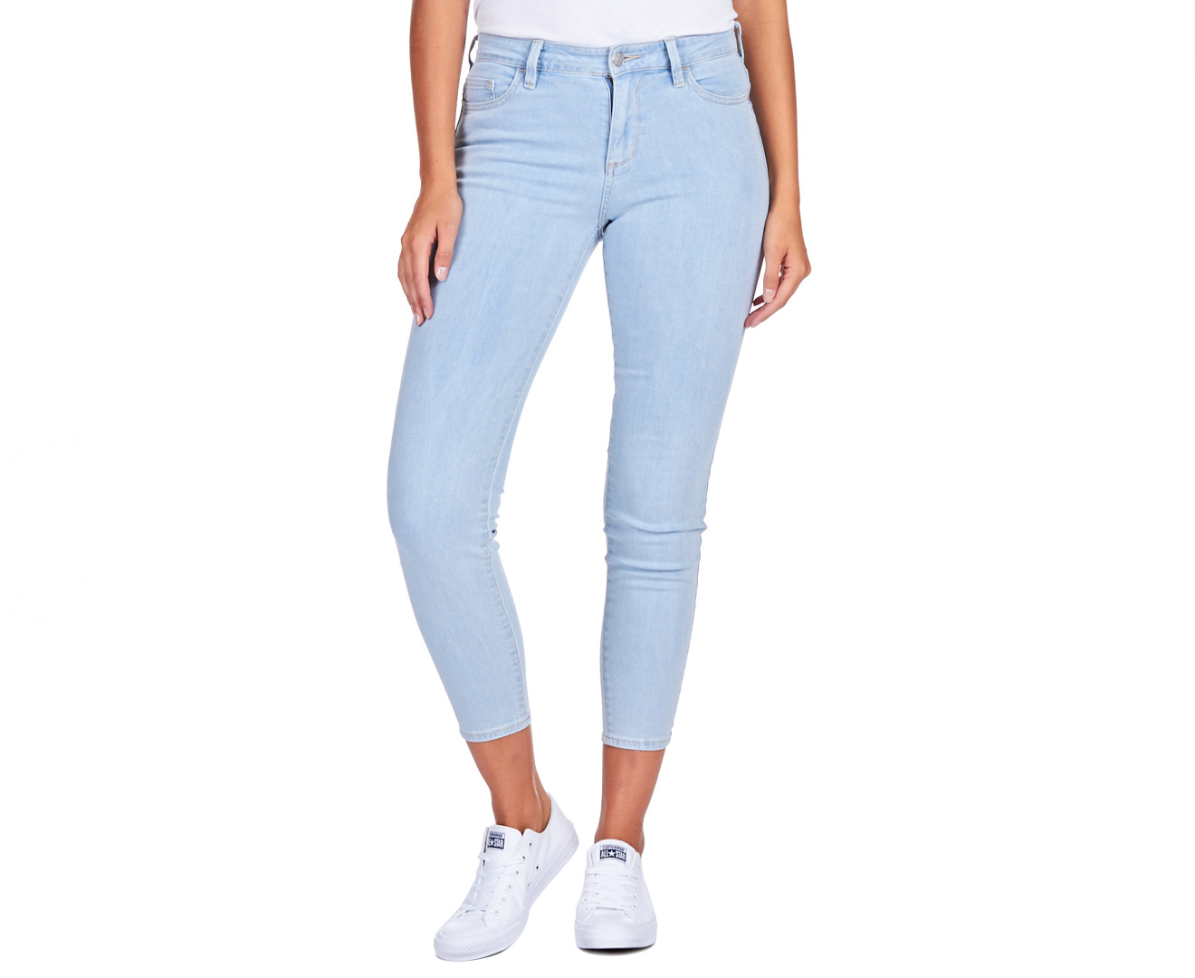 Riders by Lee Women's Mid Ankle Skimmer Jeans - Lexi Blue | eBay