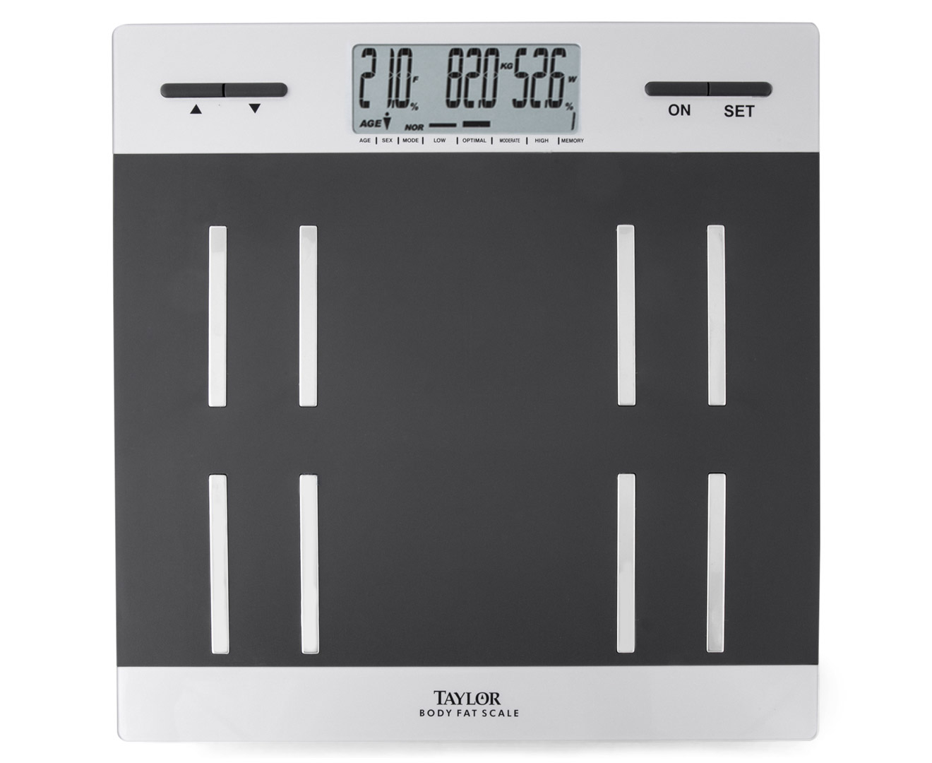 Scoopon Shopping Taylor Body Fat Scale Black Silver