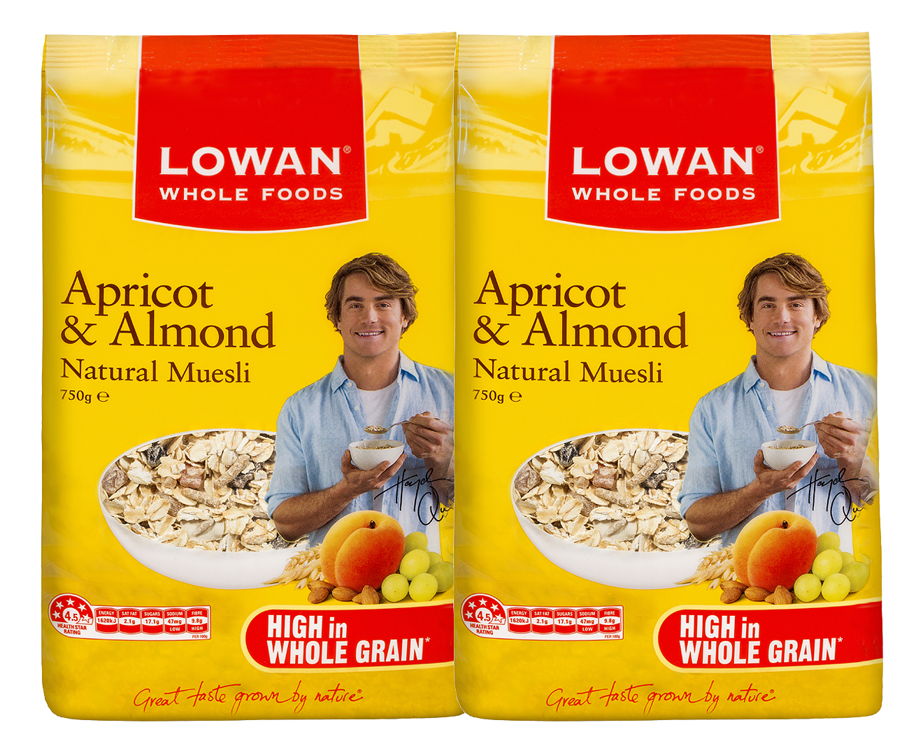 Lowan Whole Foods Rolled Oats 1kg Apricot Almond Natural Muesli 750g Ebay