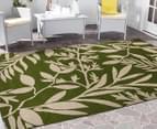 Tea Leaves 220x150cm UV Treated Indoor/Outdoor Rug - Green 2