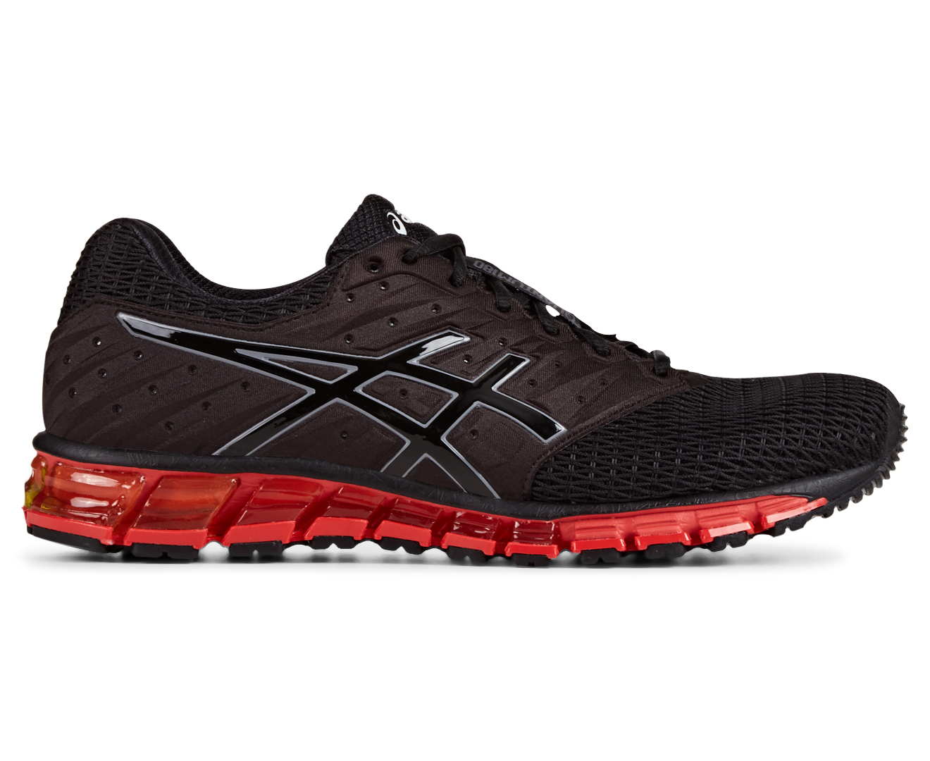asics men 39 s gel quantum 180 2 black onyx vermilion ebay. Black Bedroom Furniture Sets. Home Design Ideas